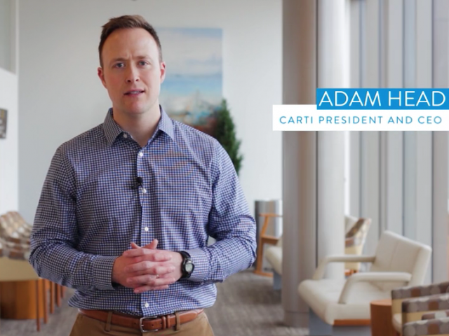 A Message to CARTI Patients from President and CEO Adam Head