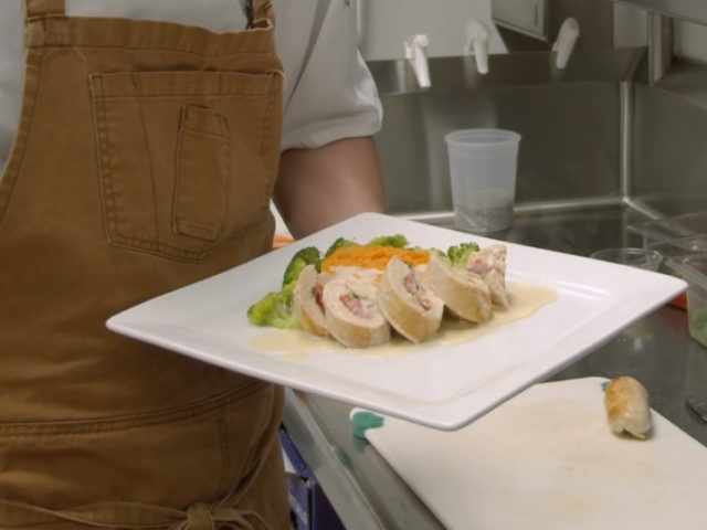 In the Kitchen with Coby | Chicken Roulade Stuffed with Roasted Red Bell Peppers, Fresh Basil and Feta Cheese