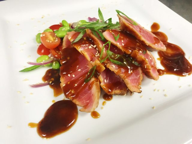 In the Kitchen with Coby | Seared Tuna with Tomato and Edamame Salad